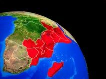 La África del Este en la tierra del planeta stock de ilustración