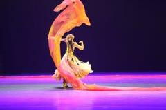 La 10ème concurrence de danse de festival d'art de la Chine - dansez dans le Xinjiang Images libres de droits