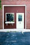 La 9ème porte en rouge et bleu Images stock