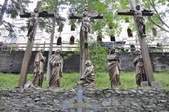 La 12ème station de la croix avec Jésus de Sainte Anne de Baupre Sanctuary du Québec Photographie stock