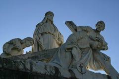 la 3ème station de la croix, Jésus tombe la première fois Photos libres de droits