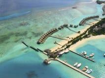 La île de vacances tropicale Images libres de droits