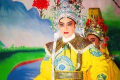 La ópera china se realizó para una celebración lunar del Año Nuevo Foto de archivo libre de regalías