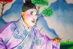 La ópera china se realizó para una celebración lunar del Año Nuevo Fotos de archivo