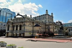 La ópera nacional de Ucrania, Kiev Foto de archivo libre de regalías