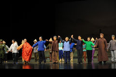 La ópera principal de Jiangxi de la llamada de cortina de los actores una romana Foto de archivo