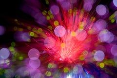 La óptica de fibras parece MACRO de la estrella imágenes de archivo libres de regalías