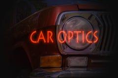 La óptica del coche fotos de archivo