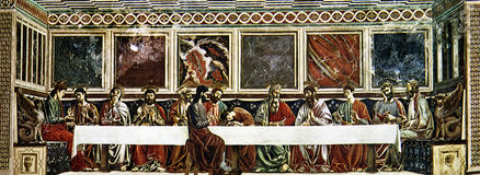 La última cena de Cristo foto de archivo