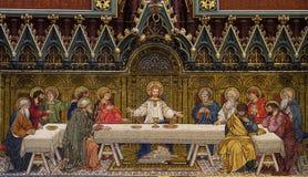 La última cena (mosaico) fotografía de archivo