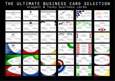 La última selección de la tarjeta de visita stock de ilustración