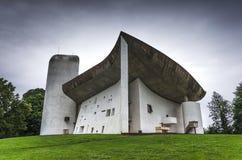 La Нотре Даме du Haut, Le Corbusier Стоковые Изображения RF