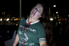 la 11 går zombien Arkivfoton