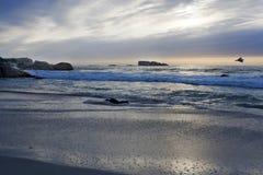 La 3ème plage de Clifton près de Capetown Images libres de droits
