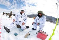 La 5ème pêche de Baikal image stock