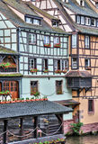 老房子在La小的法国区在史特拉斯堡 免版税图库摄影
