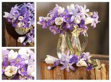 la Aún-vida florece el bosque - collage Imagen de archivo libre de regalías