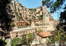 La abadía benedictina de Santa Maria de Montserrat Imágenes de archivo libres de regalías