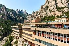 La abadía benedictina de Santa Maria de Montserrat Fotos de archivo