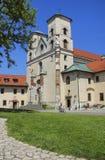 La abadía benedictina en Tyniec, Kraków, Polonia Imagen de archivo