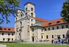 La abadía benedictina en Tyniec, Kraków, Polonia Fotografía de archivo libre de regalías