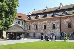 La abadía benedictina en Tyniec, Kraków, Polonia Fotografía de archivo
