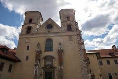La abadía benedictina en Tyniec (Polonia) Foto de archivo