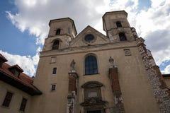 La abadía benedictina en Tyniec (Polonia) Fotos de archivo libres de regalías