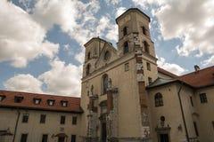 La abadía benedictina en Tyniec (Polonia) Foto de archivo libre de regalías