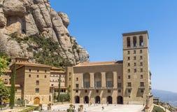 La abadía benedictina Santa Maria de Montserrat Fotos de archivo