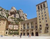 La abadía benedictina Santa Maria de Montserrat Fotografía de archivo libre de regalías