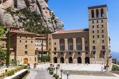 La abadía benedictina Santa Maria de Montserrat Foto de archivo libre de regalías
