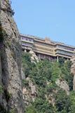 La abadía benedictina Santa Maria de Montserrat en Monistrol de Montserrat, España Imagen de archivo libre de regalías