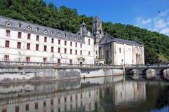 La abadía de Brantome, Francia Imagen de archivo libre de regalías