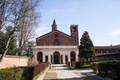 La abadía de Chiaravalle en Milano Foto de archivo