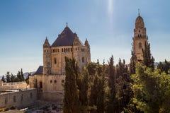 La abadía de Dormition en Jerusalén Imagenes de archivo