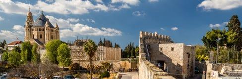 La abadía de Dormition en Jerusalén Imagen de archivo libre de regalías