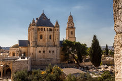 La abadía de Dormition en Jerusalén Fotos de archivo libres de regalías
