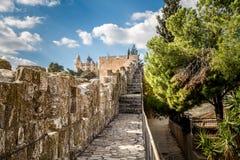 La abadía de Dormition en Jerusalén Imágenes de archivo libres de regalías