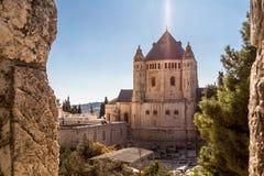 La abadía de Dormition en Jerusalén Foto de archivo