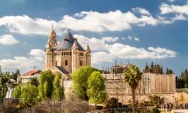 La abadía de Dormition en Jerusalén Fotografía de archivo