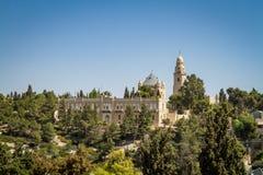 La abadía de Dormition en Jerusalén, Israel Fotos de archivo libres de regalías