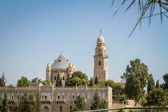 La abadía de Dormition en Jerusalén, Israel Fotografía de archivo