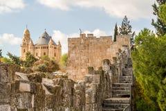 La abadía de Dormition en Jerusalén, Israel Foto de archivo libre de regalías