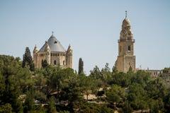 La abadía de Dormition en Jerusalén, Israel Foto de archivo