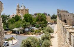 La abadía de Dormition en Jerusalén, Israel Fotos de archivo