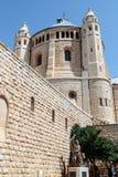 La abadía de Dormition en la ciudad vieja de Jerusalén, Israel Foto de archivo