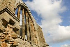 La abadía de Egglestone es una abadía abandonada de Premonstratensian en el banco meridional de las camisetas del río Fotos de archivo