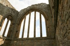 La abadía de Egglestone es una abadía abandonada de Premonstratensian en el banco meridional de las camisetas del río Foto de archivo libre de regalías