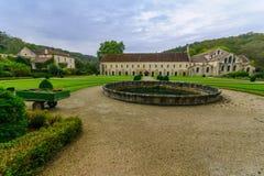 La abadía de Fontenay Imágenes de archivo libres de regalías